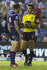 The NRL looks set to return with just the one referee.