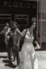 Junie Morosi outside the Florida Hotel in Terrigal, January 31, 1975.