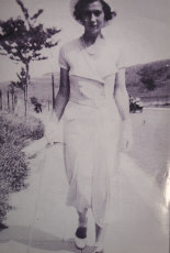 Agnes 'Nessie' Kluckhenn as a newlywed in Dover, England, in the 1930s.