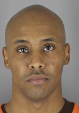 Former Minneapolis policeman Mohamed Noor after he turned himself in to the Hennepin County Jail.