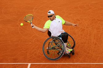 Dylan Alcott has gone back-to-back in Paris.