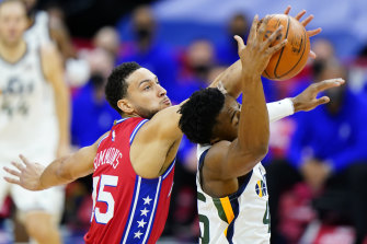 Ben Simmons put in a strong performance against and the Utah Jazz's Donovan Mitchell in the Philadelphia 76ers' win.