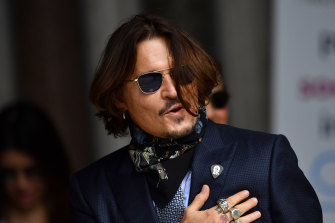 Johnny Depp arrives at court in London last week.