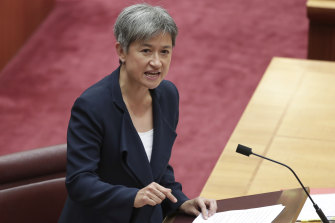 Penny Wong does not have the coronavirus, after waking up feeling unwell on Monday.