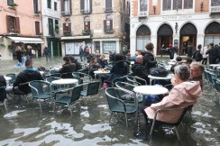 Venice on Sunday as high tidal waters returned to the city.