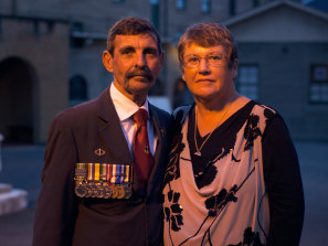 Ray and Pam Palmer, the parents of Scott Palmer, who died in a helicopter accident in Afghanistan in 2010.