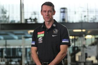 New Collingwood coach Craig McRae.