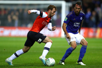 Callum McManaman (left) in action for Luton Town last year.