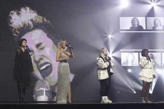 Montaigne, Delta Goodrem, Tones & I and Marcia Hines perform during the Helen Reddy tribute.