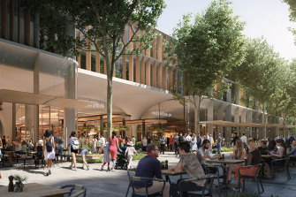 The plans include a tree-lined central boulevard with shops, cafes, restaurants and bars.