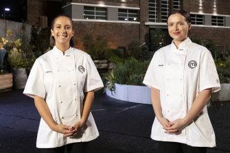 MasterChef 2020 finalists Laura Sharrad (left) and Emelia Jackson.