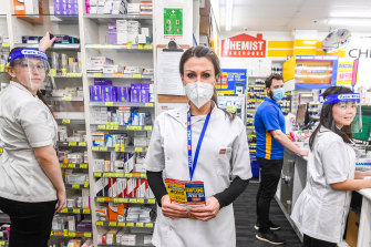 The pharmacy chain Chemist Warehouse is making protective coverings such as masks and face shields mandatory for its workers.