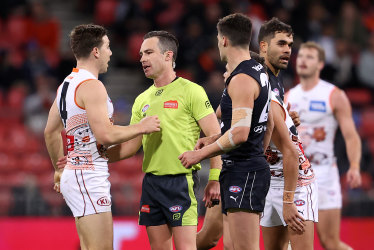 As it happened: Greene reported as GWS emphatically kill off Blues resurgence, Lions overcome plucky