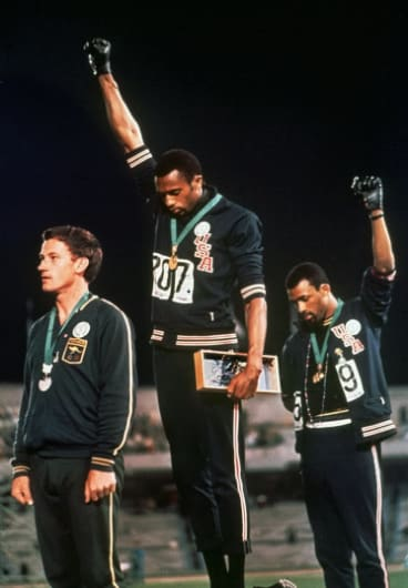 Big decision with big consequences: Taking part in Tommie Smith's and John Carlo's protest after claiming silver in the 200m at the 1968 Olympics changed Norman's life, and those of people close to him, forever.