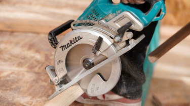 A Makita circular saw, similar to the one involved in the 2017 Toowoomba accident.