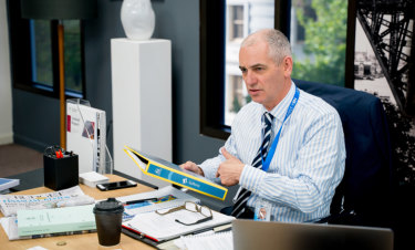 Rob Sitch plays Tony, the hard-working but frustrated boss of the fictional Nation Building Authority.