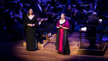 Jessica Pratt (right) was billed as the star of Vic Opera's Heroic Bel Canto but Daniela Barcellona (left) also shone.