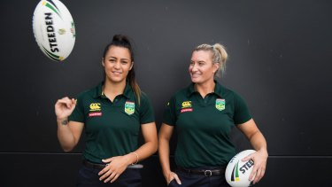 Jillaroos players Corban McGregor and Ruan Sims will play in the NRL's new women's league.