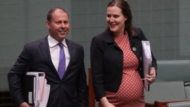 Kelly O'Dwyer with Josh Frydenberg before she took maternity leave in 2017.