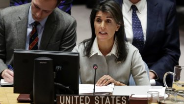 Nikki Haley at the UN.