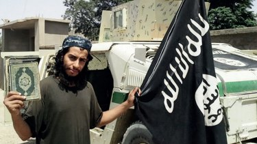 Abdelhamid Abaaoud, the suspected ringleader of the November 13 Paris attacks, in an Islamic State propaganda video.