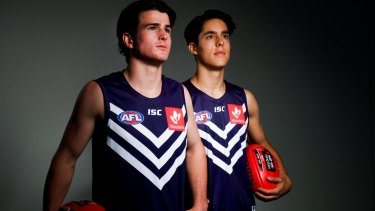 Fremantle's 2017 top draftees Andrew Brayshaw (#2) and Adam Cerra (#5) are leading a new era at the Dockers.