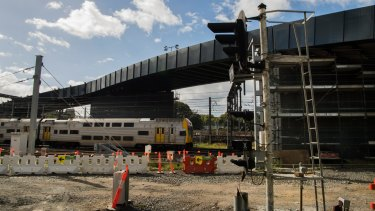 A new bridge has been built over the train lines to connect Regent Street to a rail yard at Central.