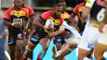Big step forward: The PNG Hunters in the 2017 State Championship.