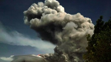 The Mt Sinabung volcano in August last year.