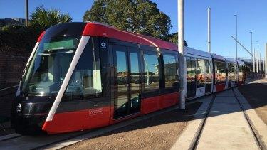 The tram sets on Sydney's $2.1 billion light rail line will be 67 metres long.