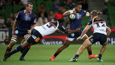Rampant: the Rebels took down the Brumbies to notch a record third consecutive win