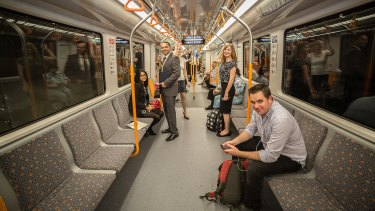 Driverless, single-deck trains will run along the new line to Parramatta.