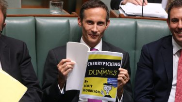 Andrew Leigh during question time in Parliament House.