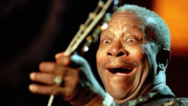 Guitar legend: US bluesman B.B. King at the 31st Montreux Jazz Festival in 1997.