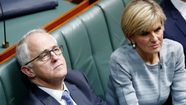 Prime Minister Malcolm Turnbull and Foreign Minister Julie Bishop.