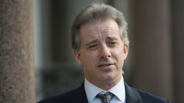 Christopher Steele, the former MI6 agent who set-up Orbis Business Intelligence and compiled a dossier on Donald Trump, in London.