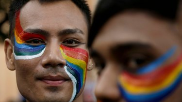 A Rainbow Pride walk in Kolkata, India, in December.