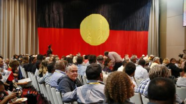 The Indigenous convention at Uluru in 2017.
