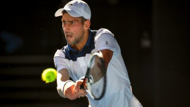 "Novak Djokovic said it was ""a big challenge"" to play on Thursday when the court temperature reached 70 degrees."