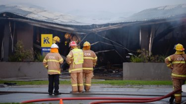 Firefighters were unable to save the Kool Kidz childcare centre after a car ploughed into, killing the driver, in June 2017.