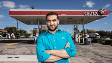Ash Vatsa stands by the Caltex petrol station in Merrylands where he was the franchisee until 2017.