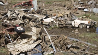 Debris in Grantham township in the wake of the 2011 floods.