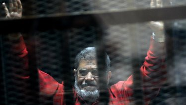 Former Egyptian president Mohammed Morsi, who was imprisoned after being ousted in a military coup.