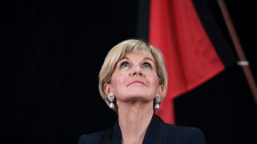 Foreign Affairs Minister Julie Bishop tells media not to police politician's sex ban.