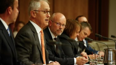 Alastair MacGibbon with Prime Minister Malcolm Turnbull.
