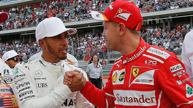 Rivalry renewed: Lewis Hamilton and Sebastian Vettel.
