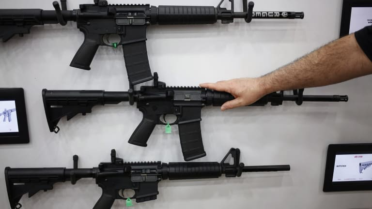 Assault-style rifles will be immediately withdrawn from the shelves of Dick's Sporting Goods stores.