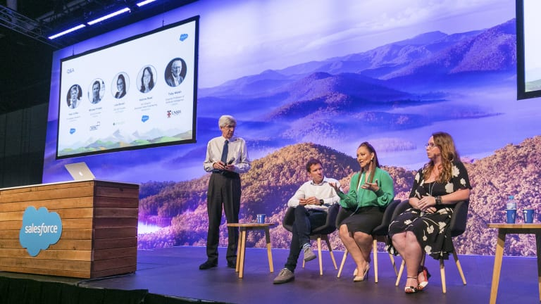The AI panel at Salesforce World Tour in Sydney.