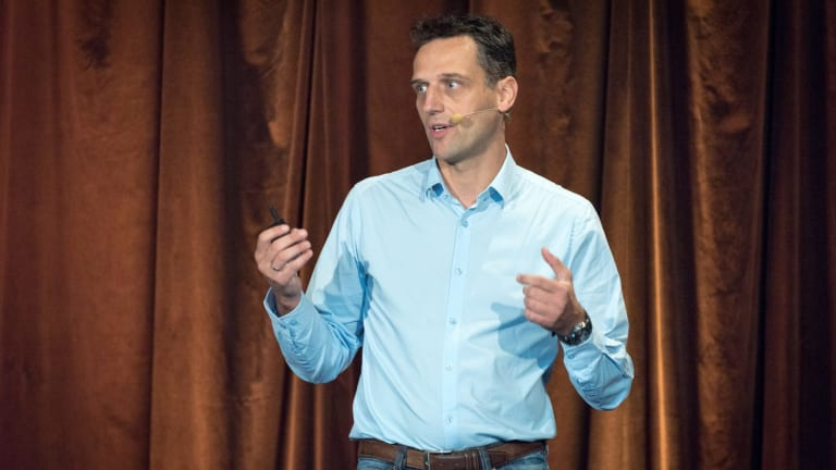 """Amazon's local head Rocco Breauniger was spruiking FBA at a """"sellers summit"""" in Sydney in November."""