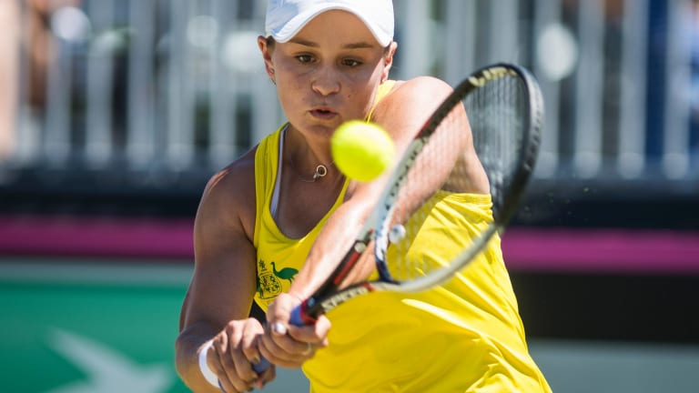Ashleigh Barty helped secure the tie.